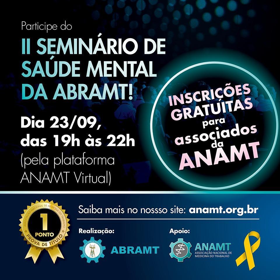 II Seminário de Saúde Mental ABRAMT - Agir Salva Vidas