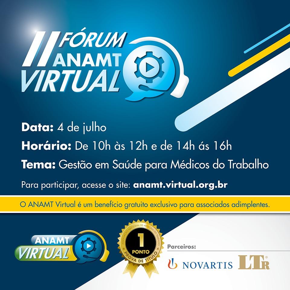 II Fórum ANAMT Virtual - Gestão em Saúde para Médicos do Trabalho